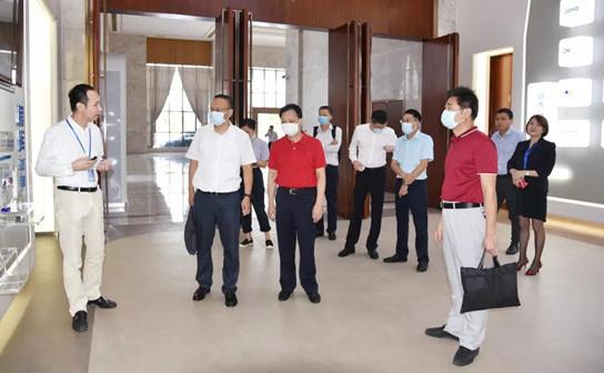 深圳市龙华区工业和信息化局一行领导莅临腾晖科技视察交流